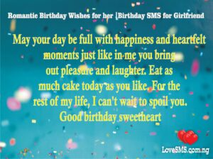 Romantic Birthday Wishes for her |Birthday SMS for Girlfriend